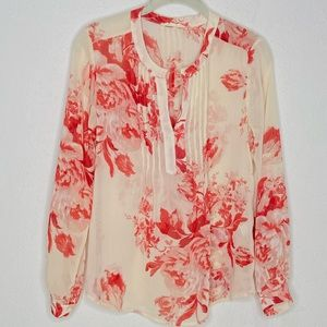 Creative Commune | Red Floral Sheer Blouse